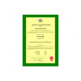 ISO 9001:2008 Load Test Certifcate