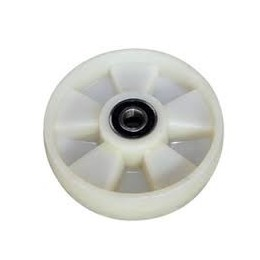PT Steer Wheel White Nylon including Bearings with 20mm Core