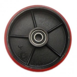 PT Steer Wheel Red Polyurethane including Bearings with 20mm Core