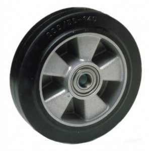 PT Steer Wheel Black Rubber including Bearings with 20mm Core